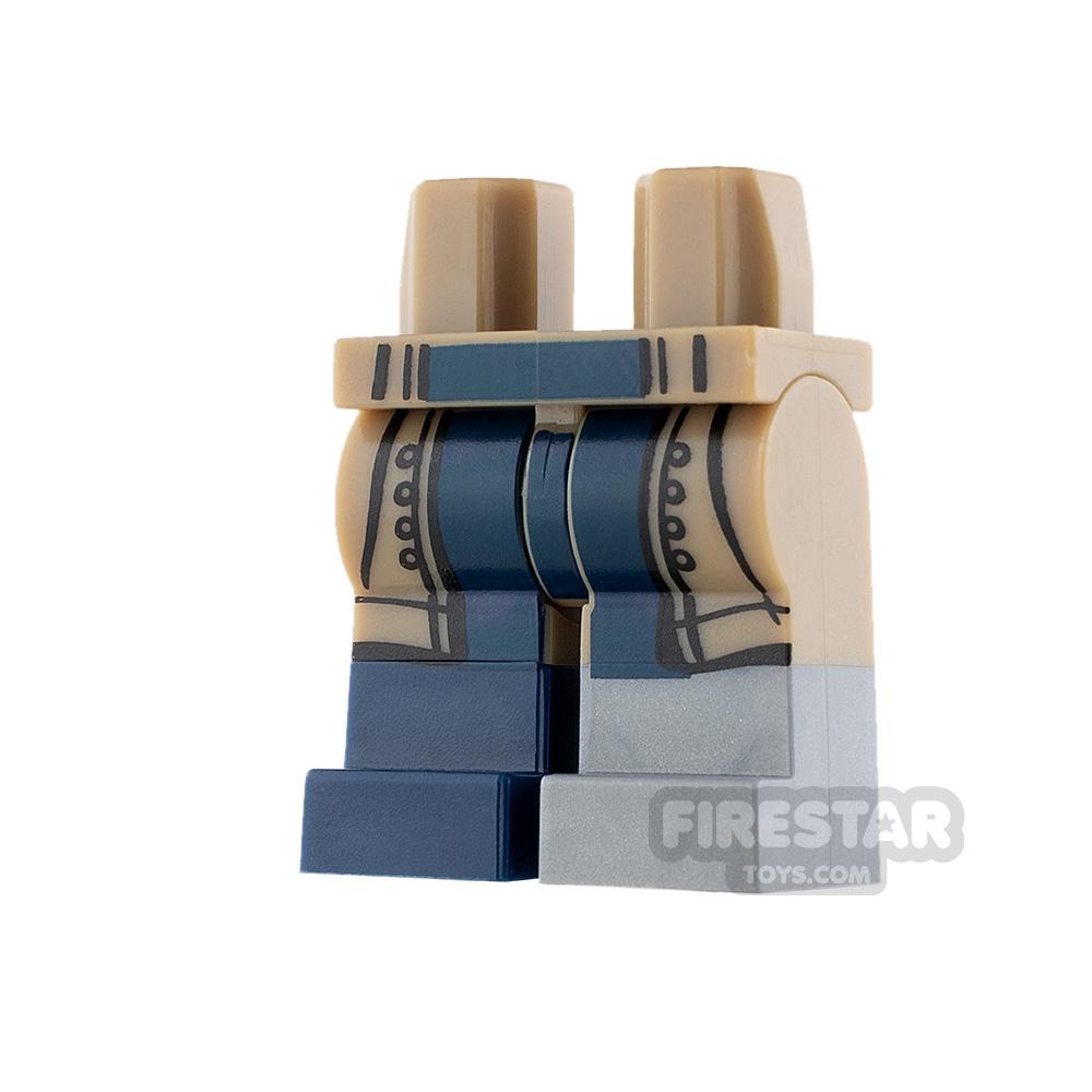 LEGO Mini Figure Legs - Dark Tan Coattails