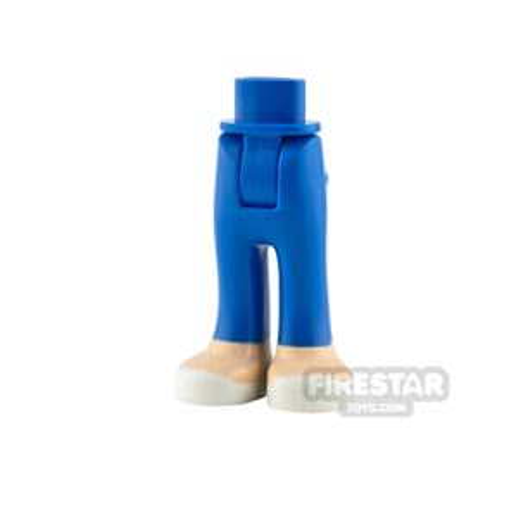 LEGO Friends Mini Figure Legs - Blue with Light Flesh Feet
