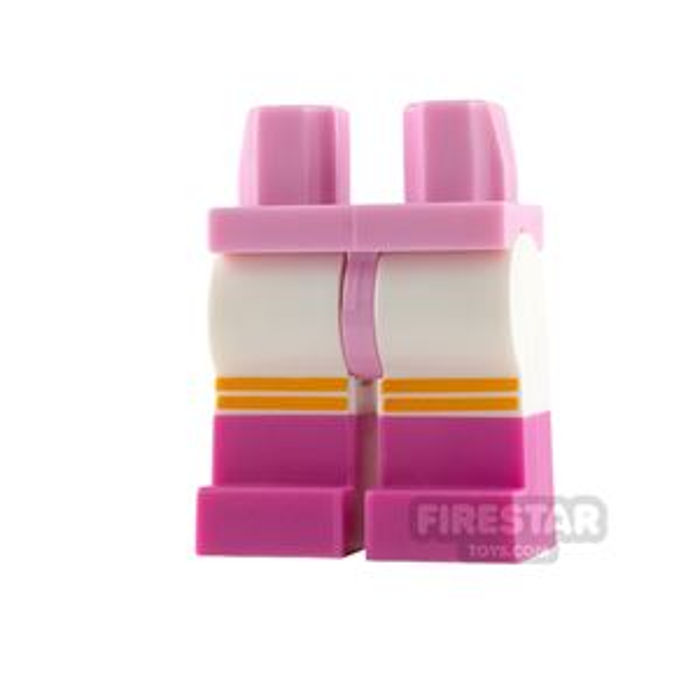 LEGO Mini Figure Legs Dark Pink Boots