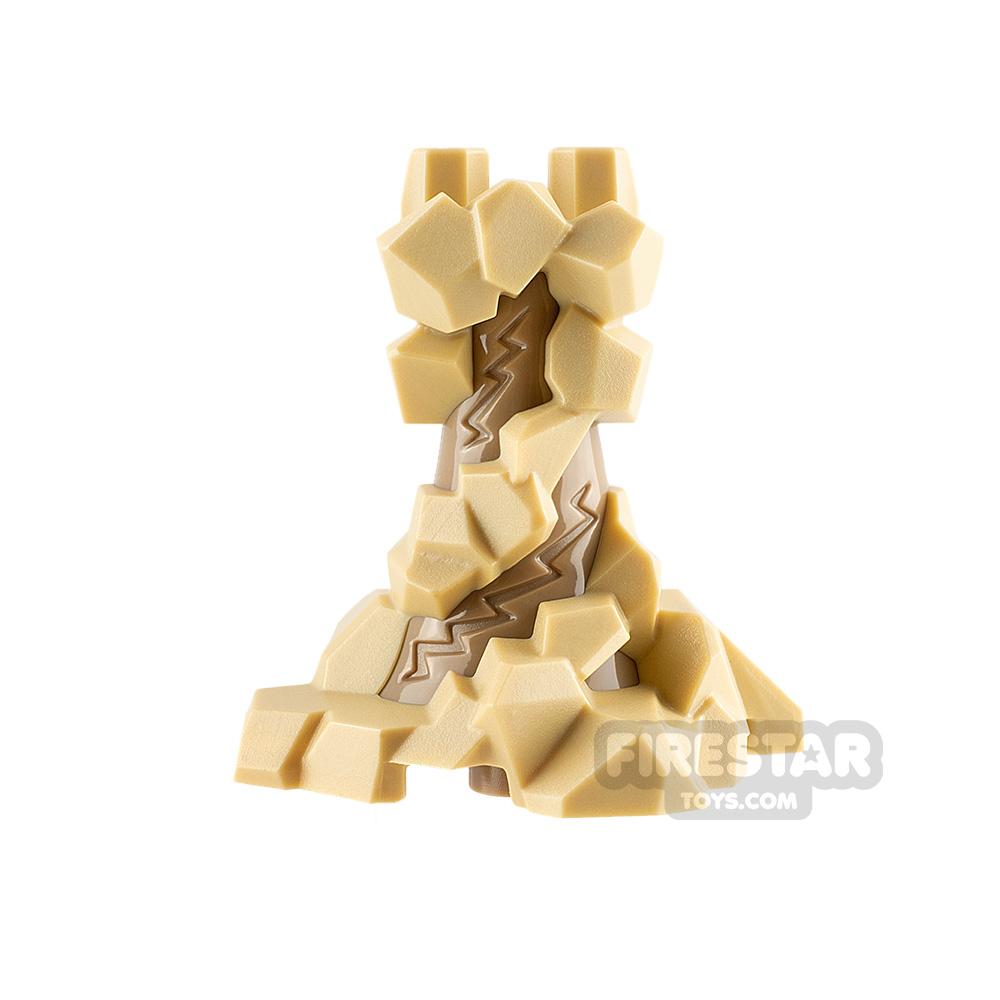 LEGO Minifigure Legs Swirling Rocks