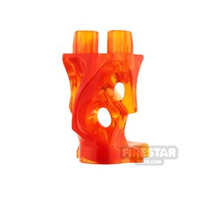 LEGO Minifigure Legs Ghost Trans Orange and Red
