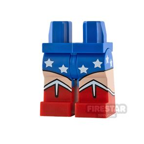 LEGO Minifigure Legs Red Boots and Stars