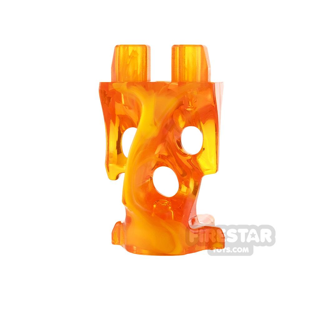 LEGO Minifigure Legs Ghost Trans Orange and Bright Light Orange