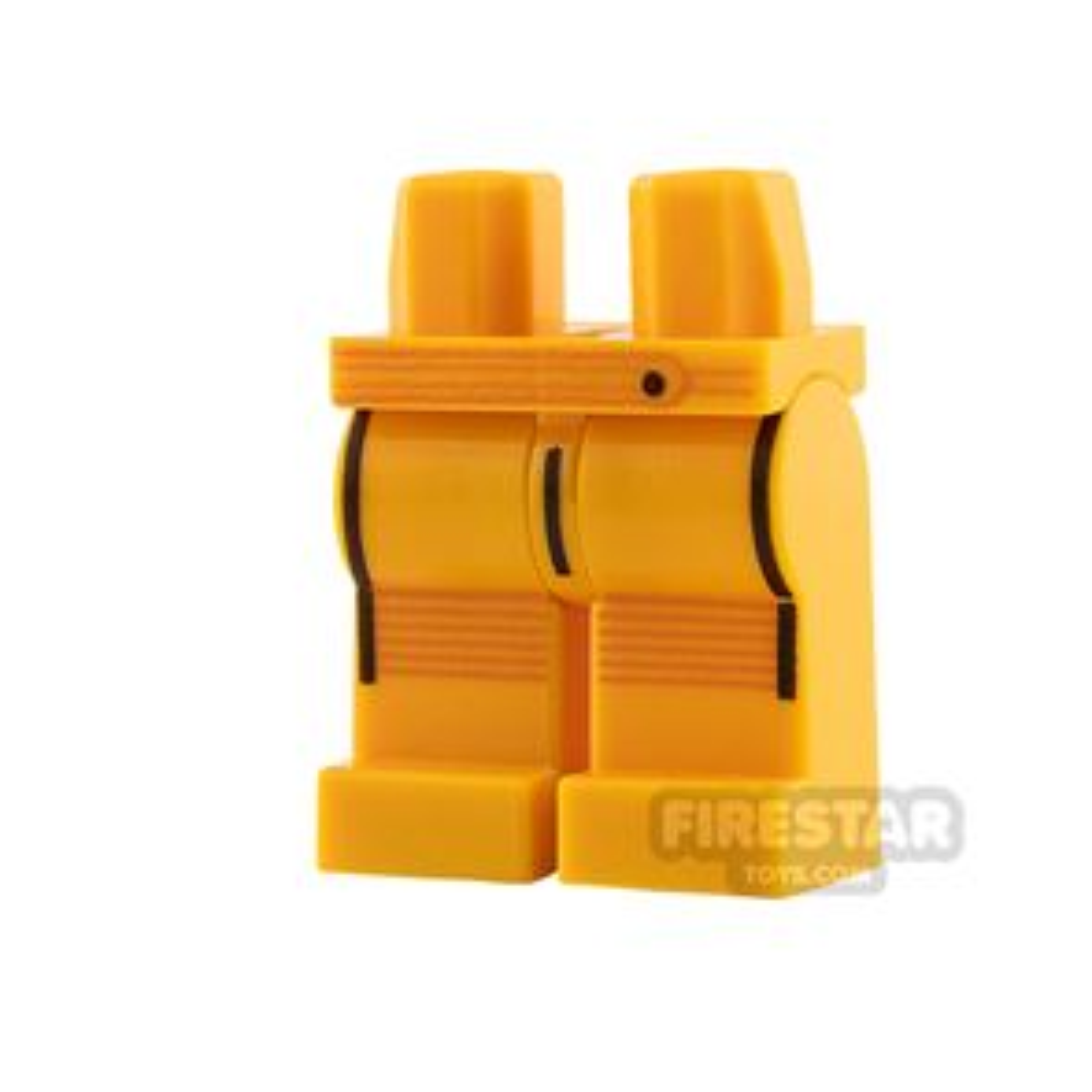 LEGO Minifigure Legs Black and Orange Stripes