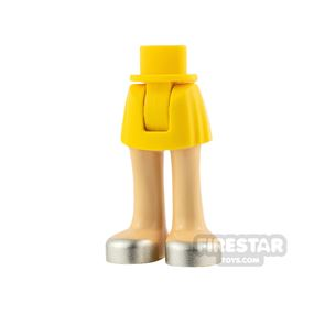 LEGO Friends Minifigure Legs Silver Shoes with Skirt