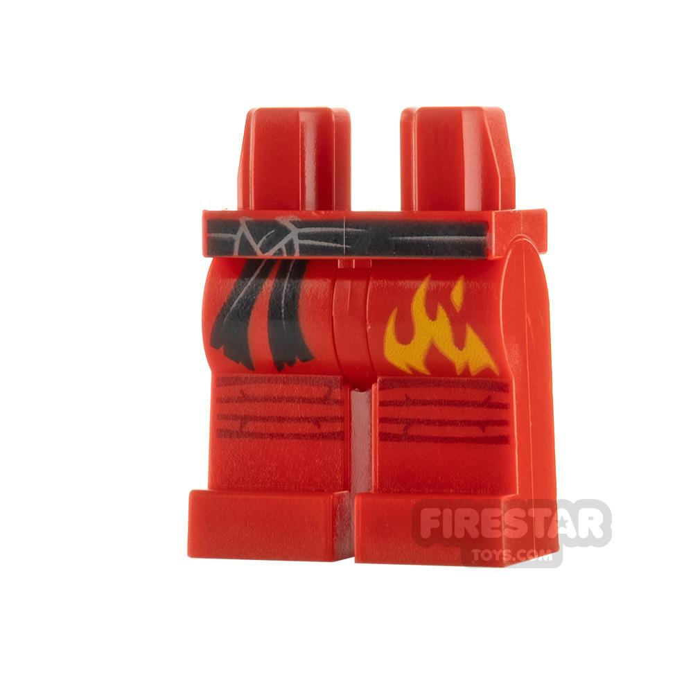 LEGO Minifigure Legs Sash and Flames
