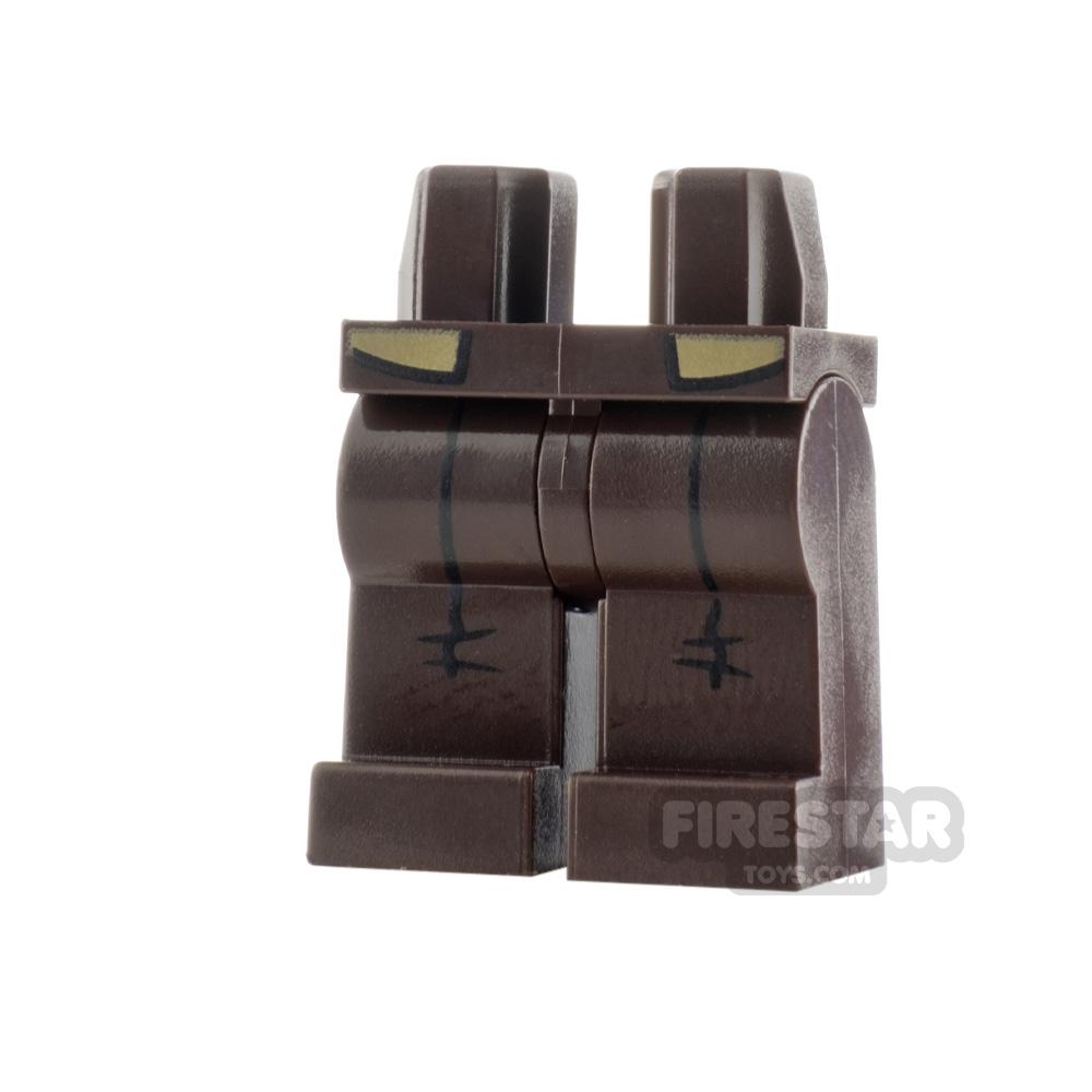 LEGO Minifigure Legs Dark Tan Jacket Coattails