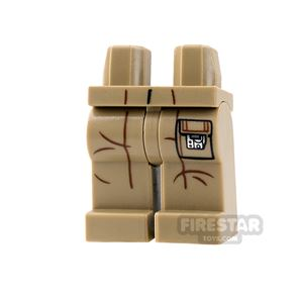 LEGO Mini Figure Legs - Dark Tan with Creases and Pocket