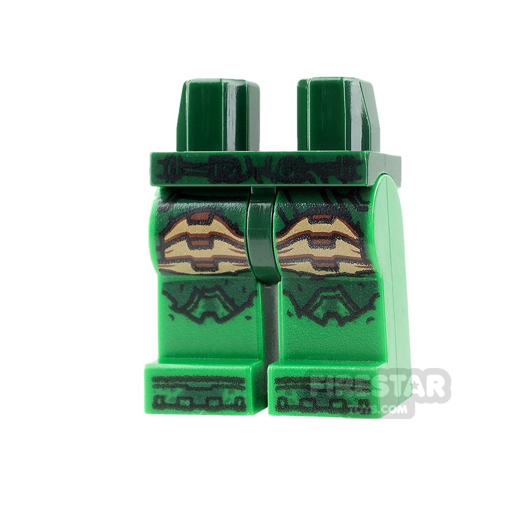 LEGO Mini Figure Legs - Parademon - Dark Green