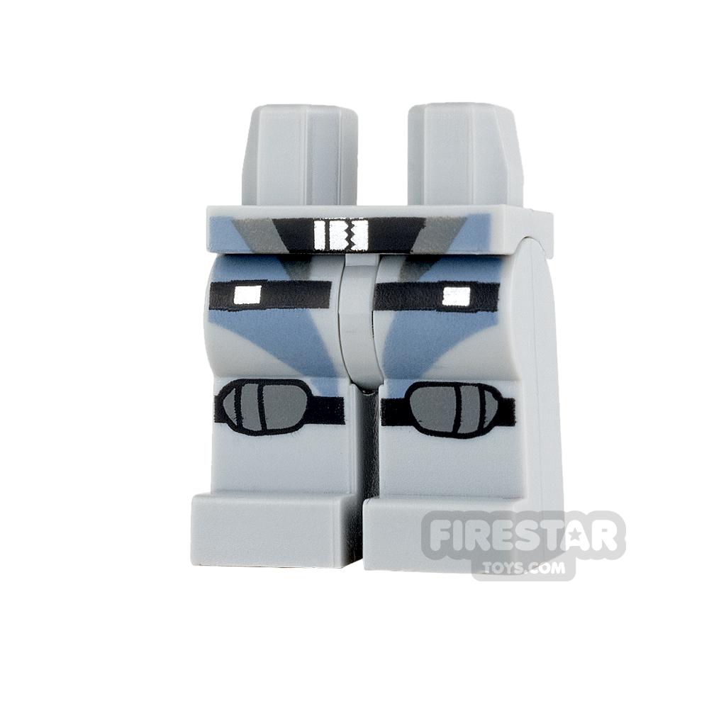 LEGO Mini Figure Legs - Scuba Suit with Black Straps and Knee Pads