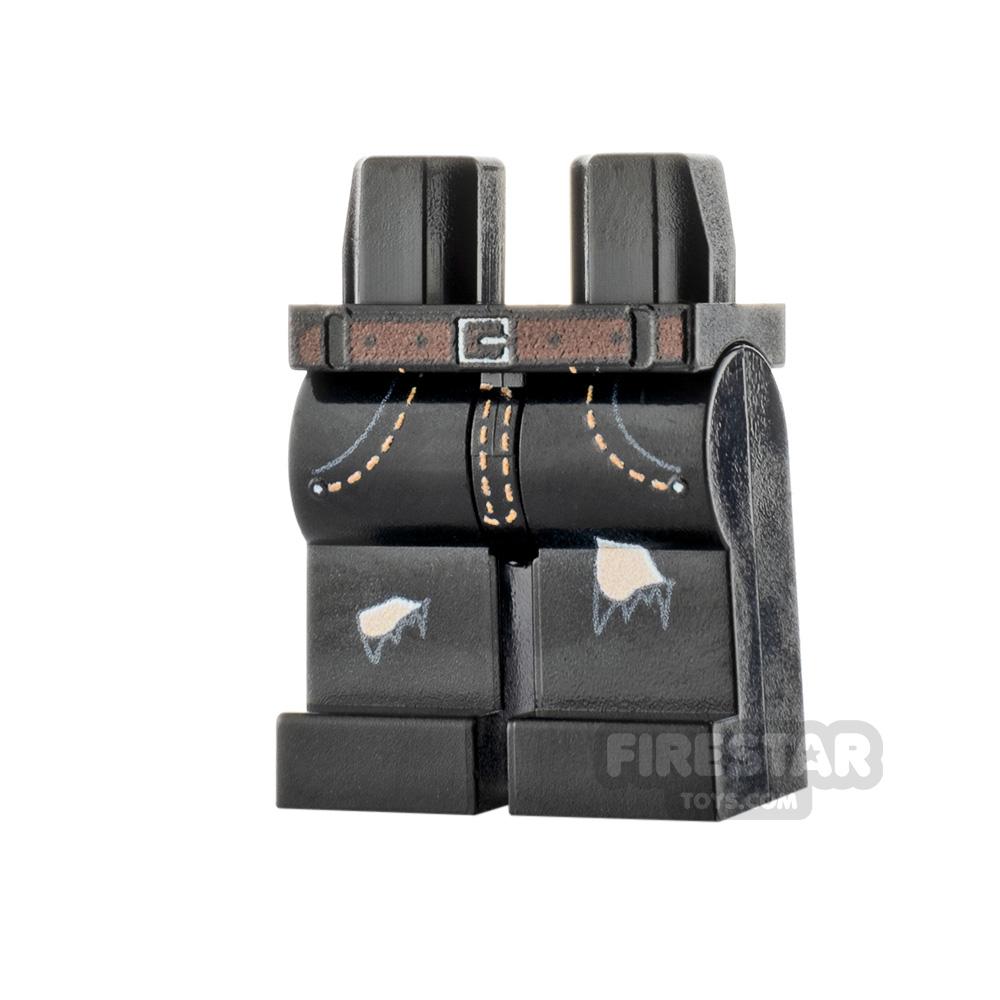Custom Design Legs - Ripped Jeans - Black - Flesh