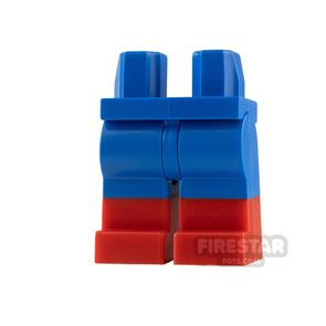 LEGO Minifigure Legs Blue with Red Boots