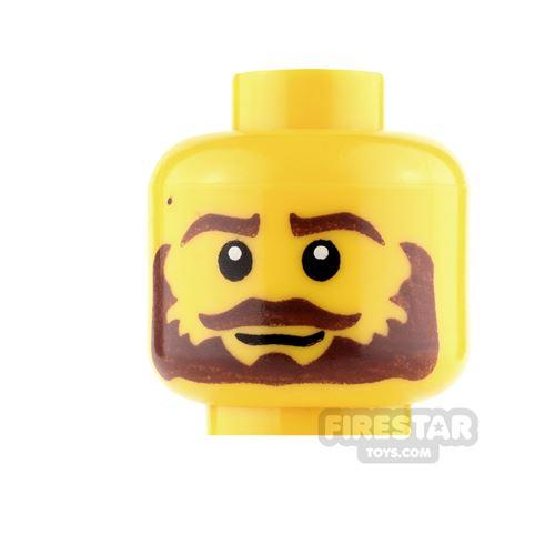 LEGO Mini Figure Heads - Bushy Brown Beard