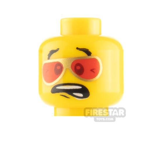 LEGO Mini Figure Heads - Red Sunglasses