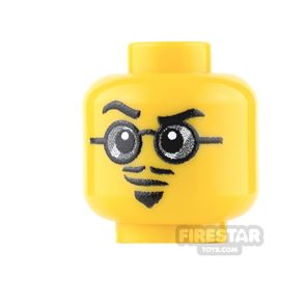 Custom Minifigure Heads - Beatnik -  Yellow