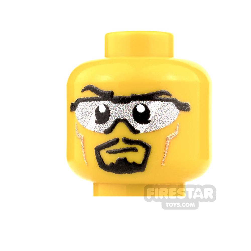 Custom Minifigure Heads - Sunglasses Trooper - Male - Yellow