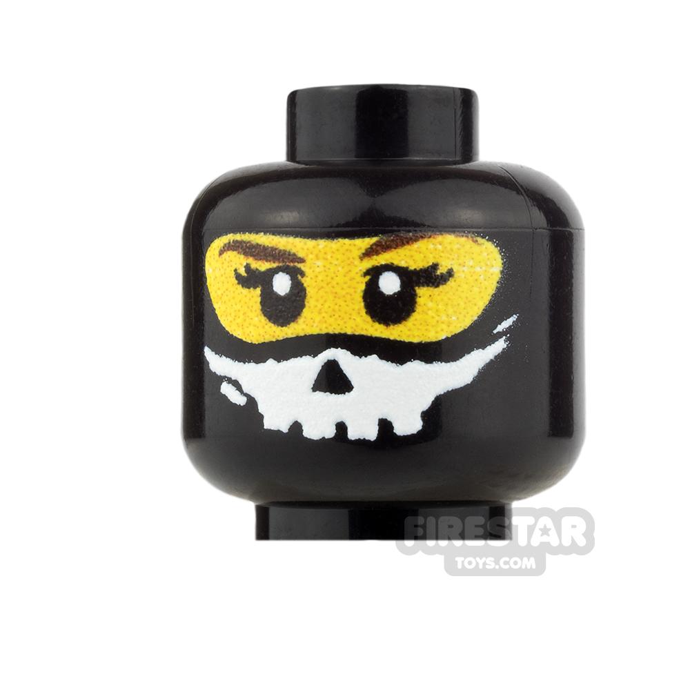 Custom Minifigure Heads Balaclava Skull Trooper Female