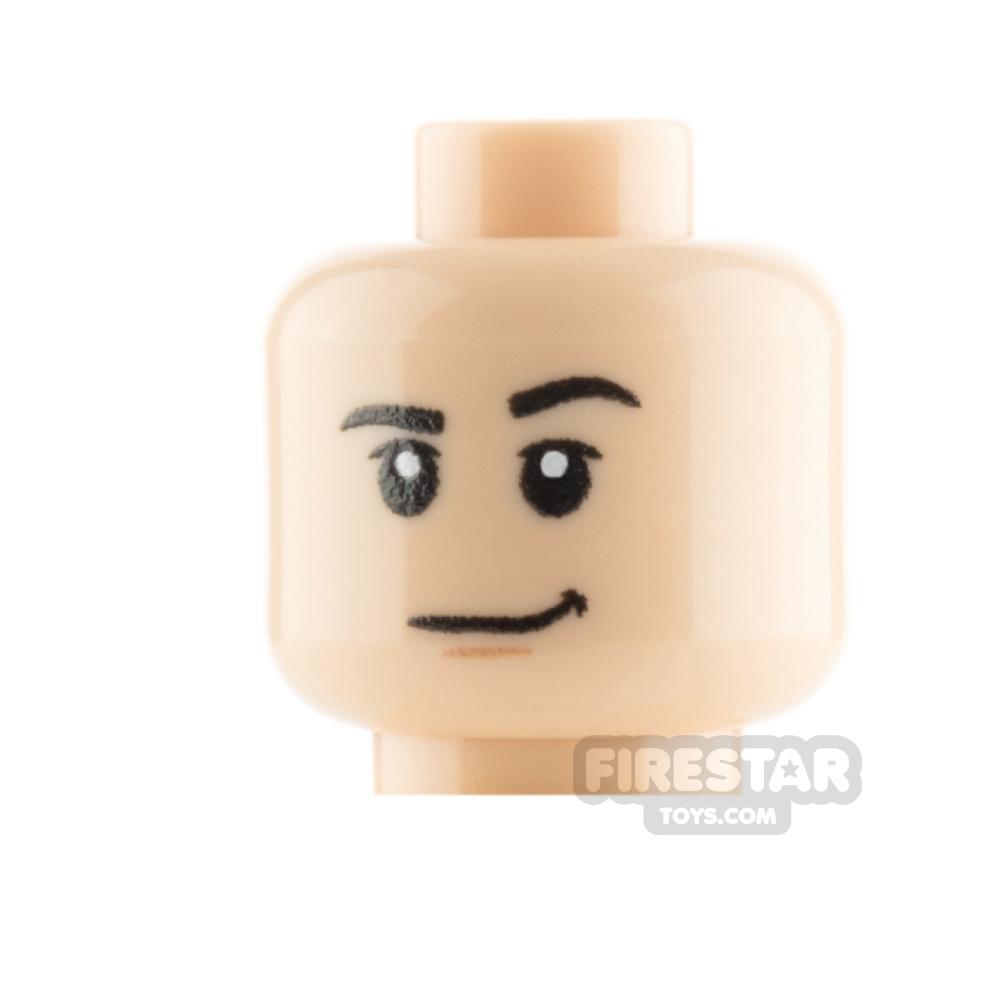 Custom Mini Figure Heads - Smirk - Light Flesh