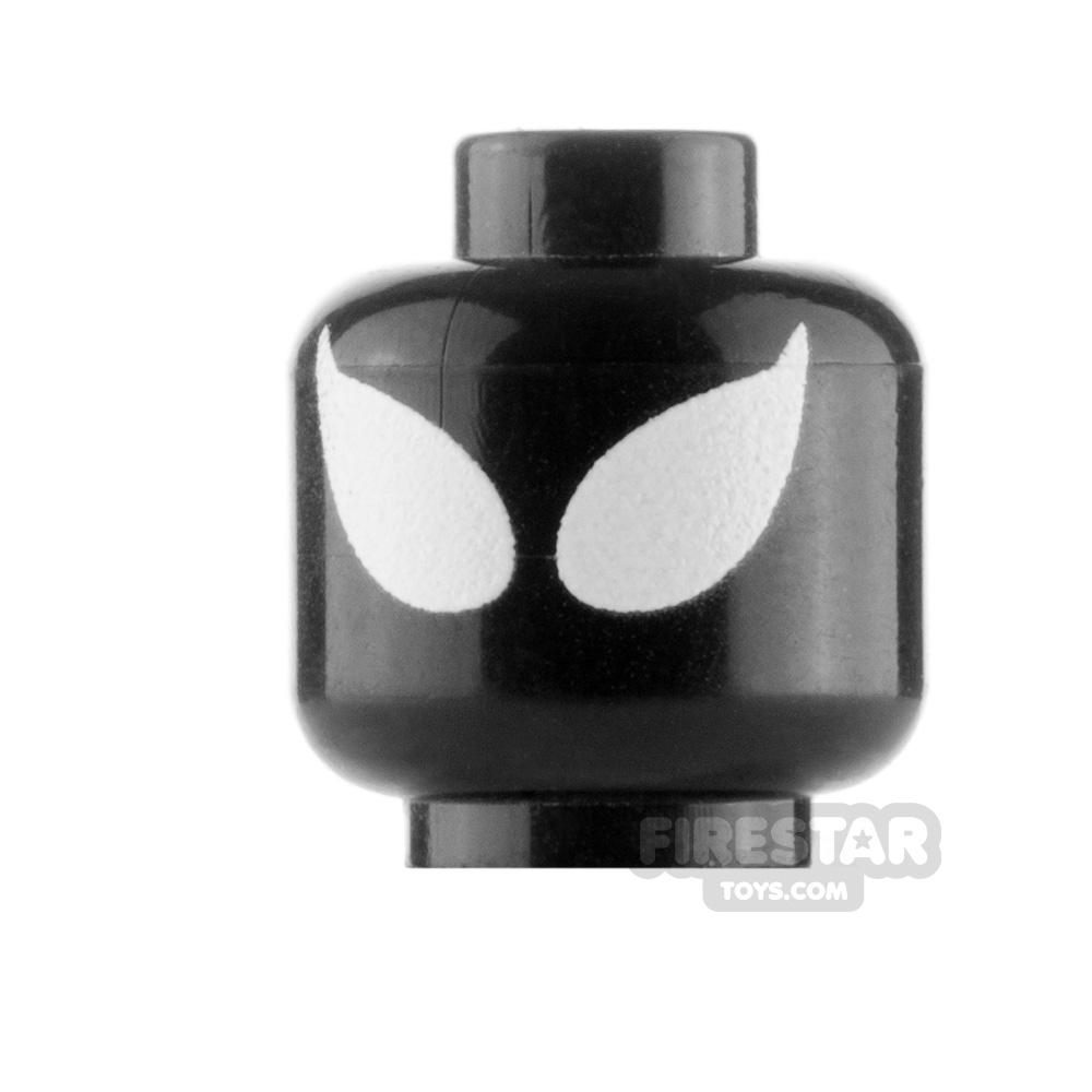 Custom Mini Figure Heads - Spider Man - Black