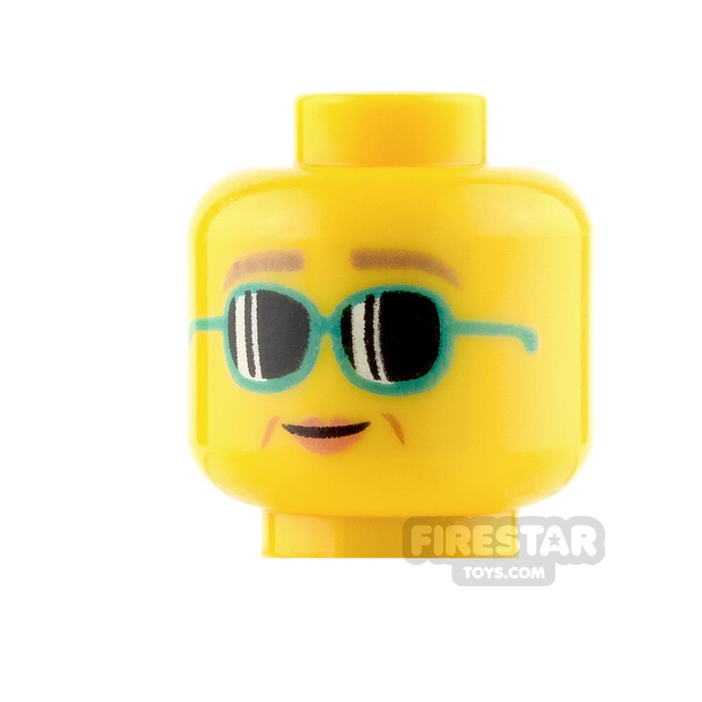 LEGO Mini Figure Heads - Sunglasses and Smile