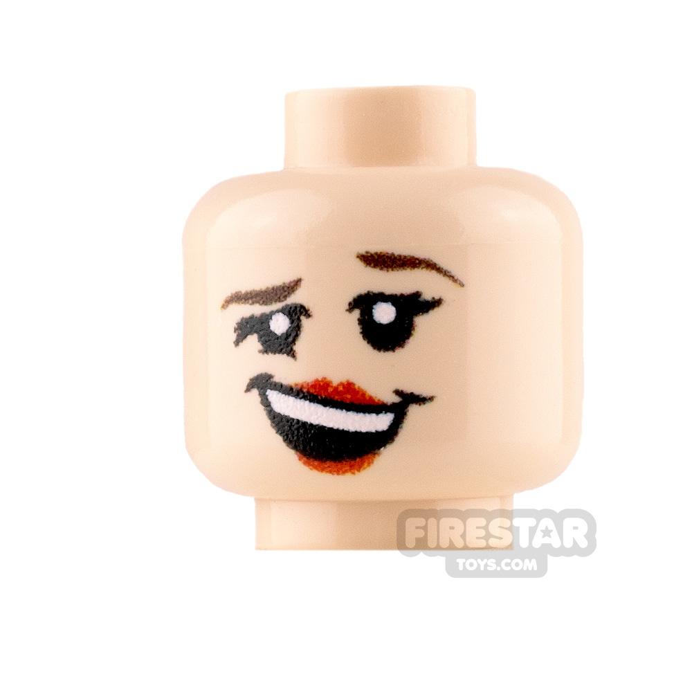 Custom Minifigure Heads - Merry Female - Light Flesh