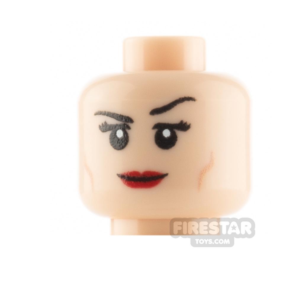 Custom Mini Figure Heads - Smile - Light Flesh