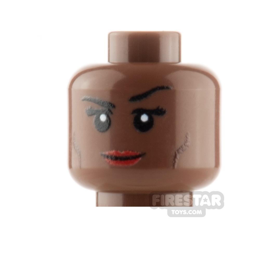 Custom Mini Figure Heads - Smile - Reddish Brown