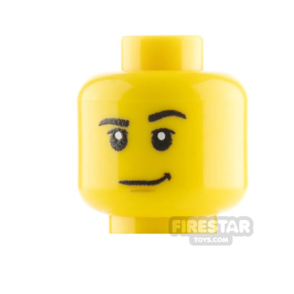Custom Mini Figure Heads - Smirk - Yellow