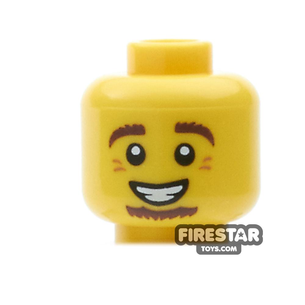 LEGO Mini Figure Heads - Brown Goatee