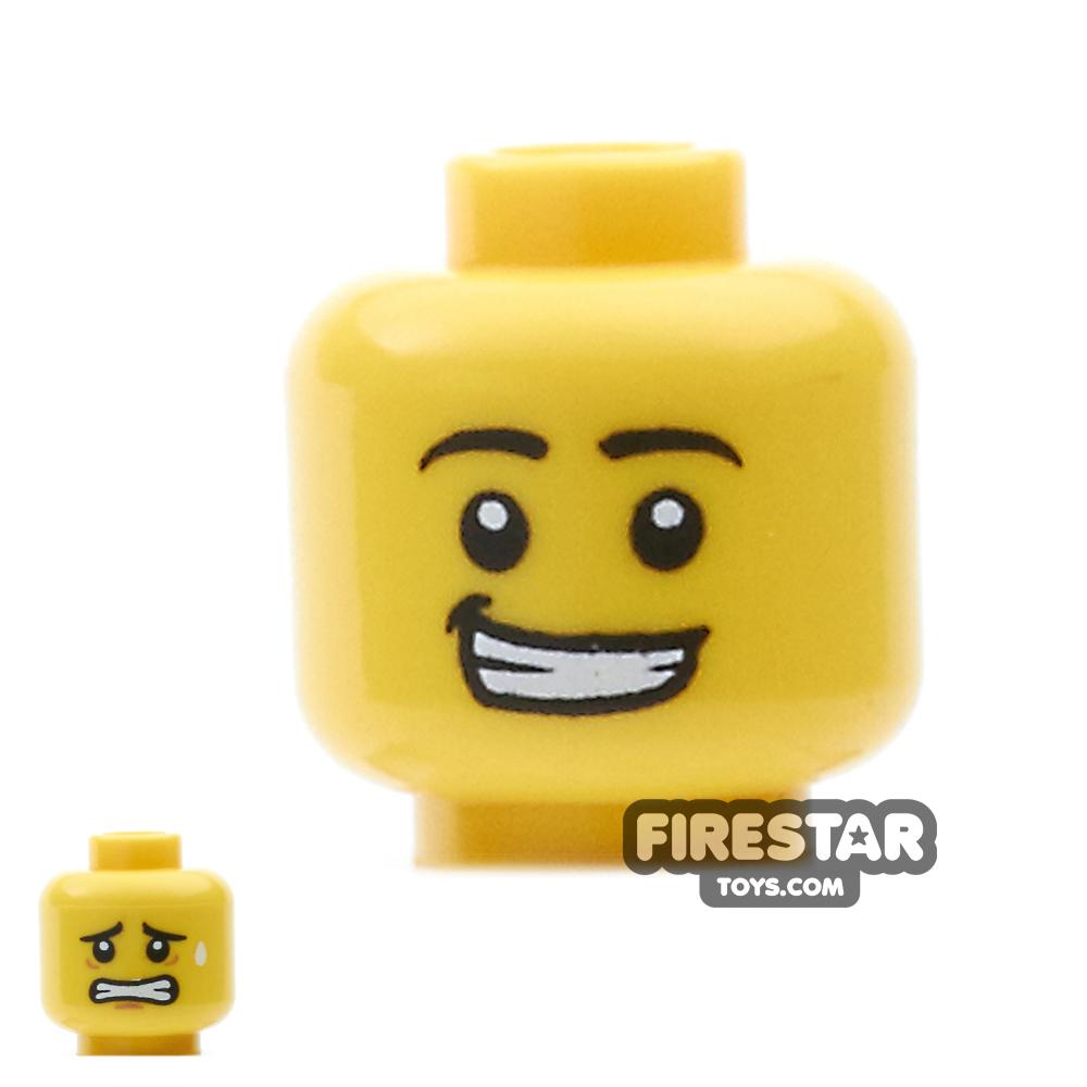 LEGO Mini Figure Heads - Open Grin / Grimace