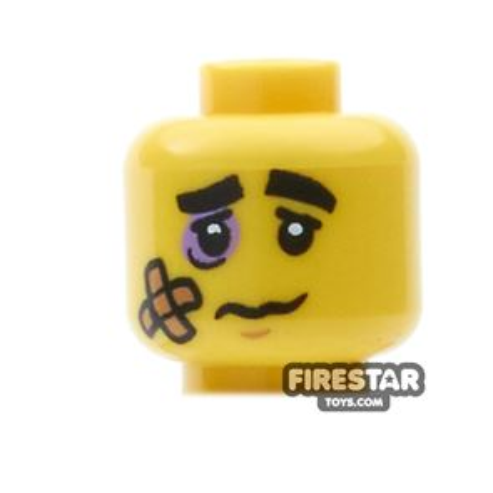 LEGO Mini Figure Heads - Black Eye and Plaster