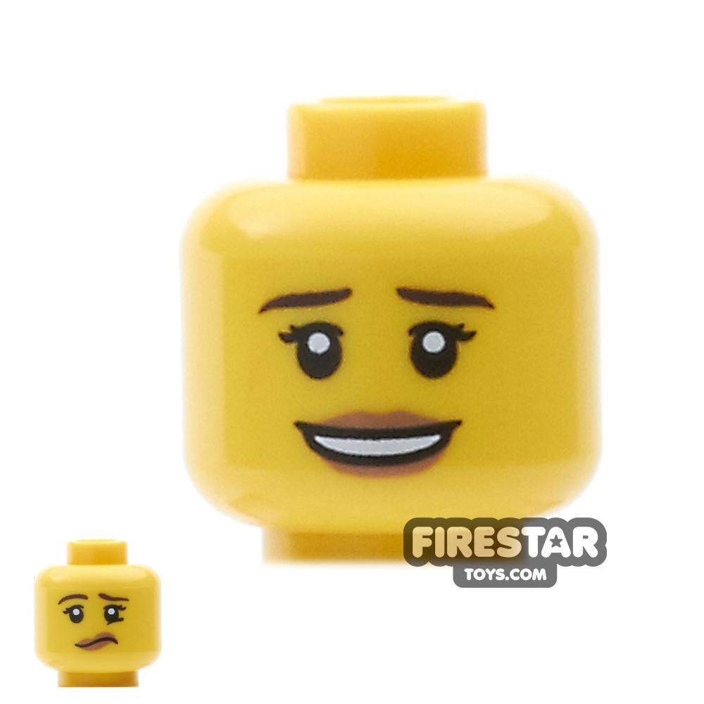 LEGO Mini Figure Heads - Smile / Worried
