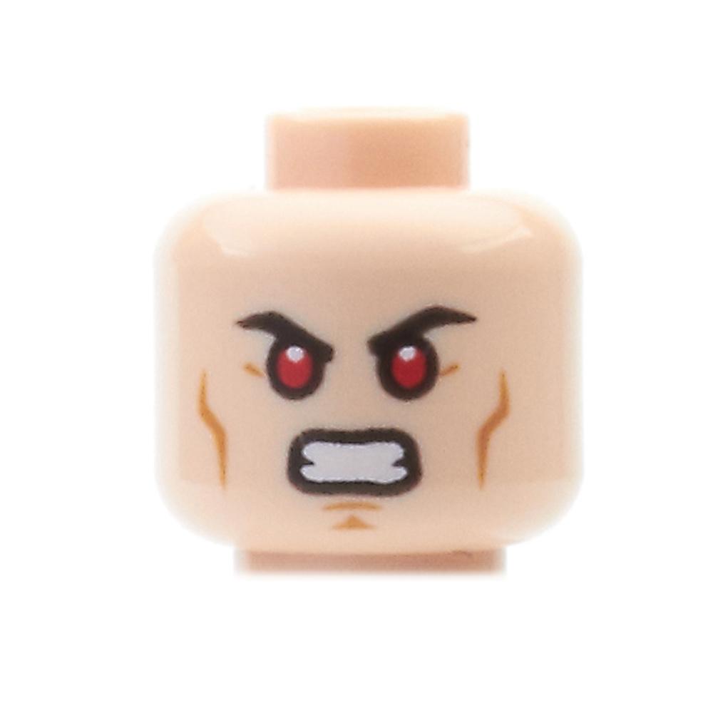 LEGO Mini Figure Heads - Superman Smirk / Red Eyes