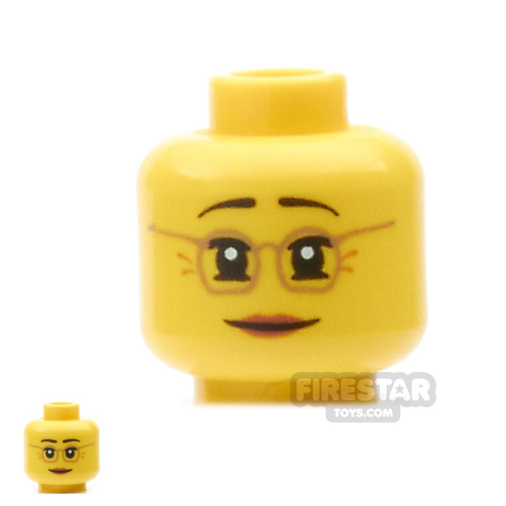 LEGO Mini Figure Heads - Glasses and Smile