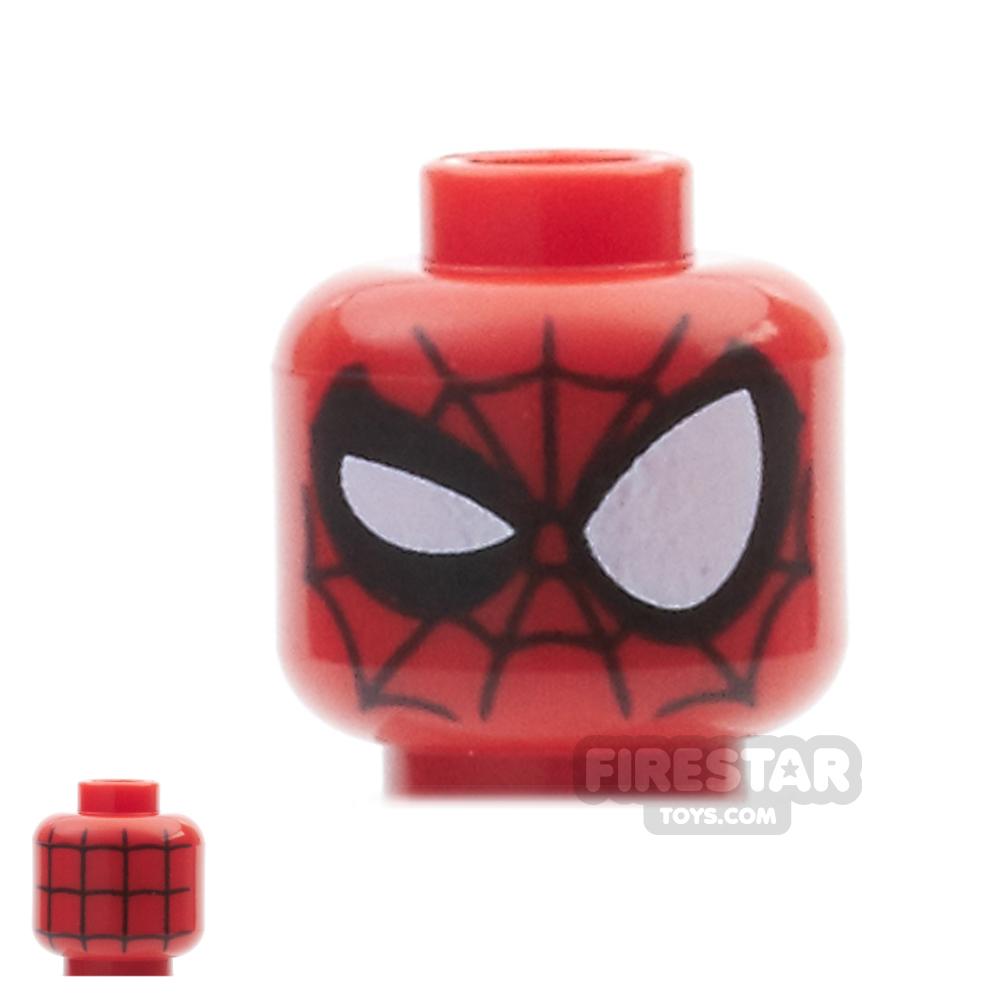 LEGO Mini Figure Heads - Spider Man Web Pattern