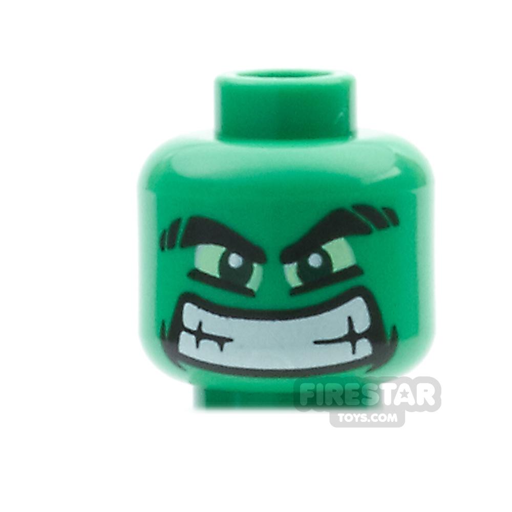 LEGO Mini Figure Heads - Hulk Wide Grin