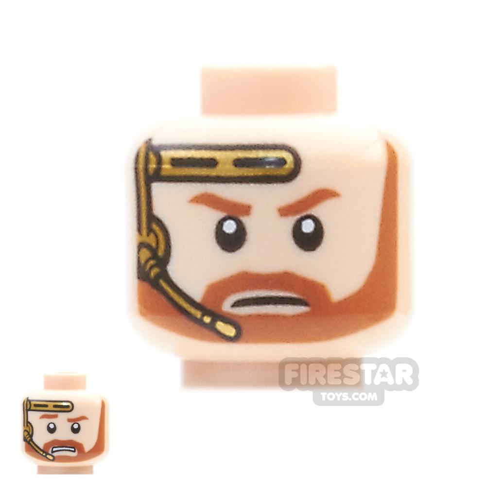 LEGO Mini Figure Heads - Obi-Wan with Headset