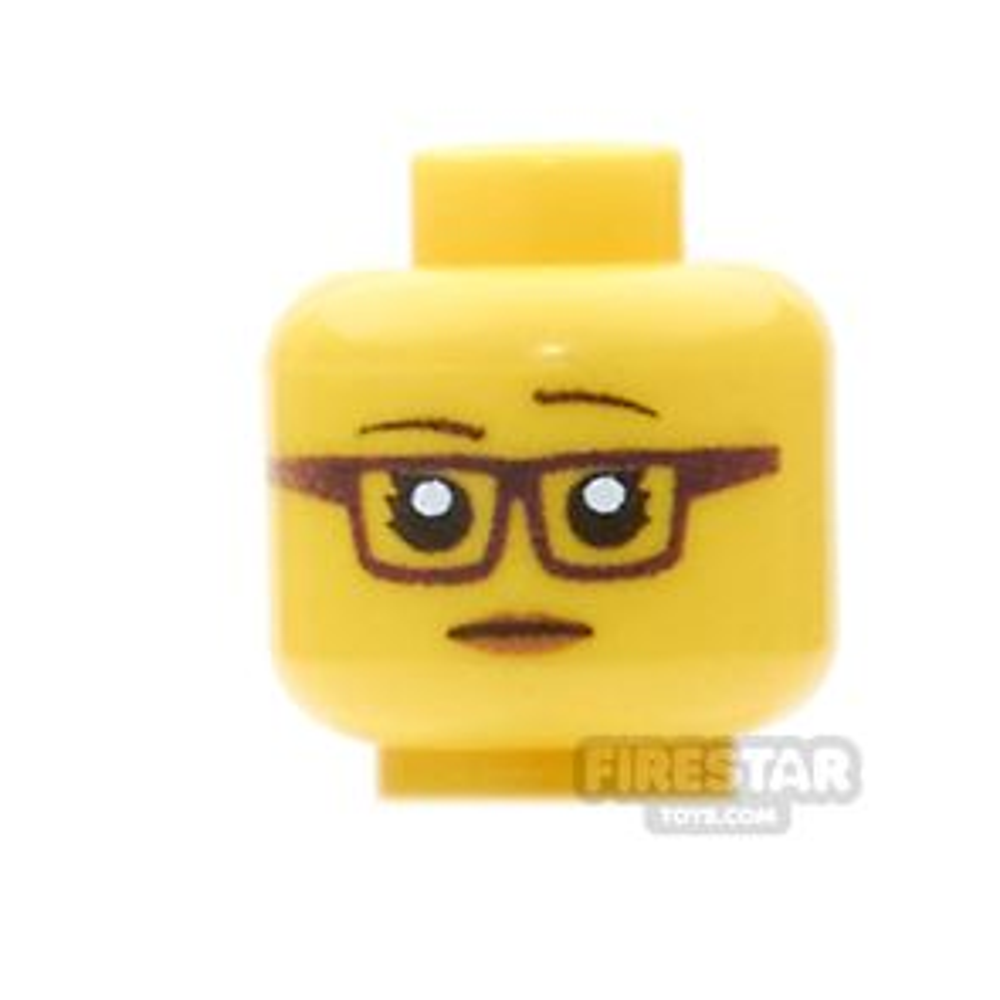 Custom Mini Figure Heads - Female Hipster  - Yellow