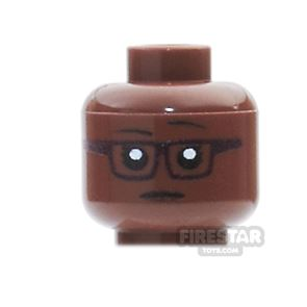 Custom Mini Figure Heads - Hipster Female - Reddish Brown