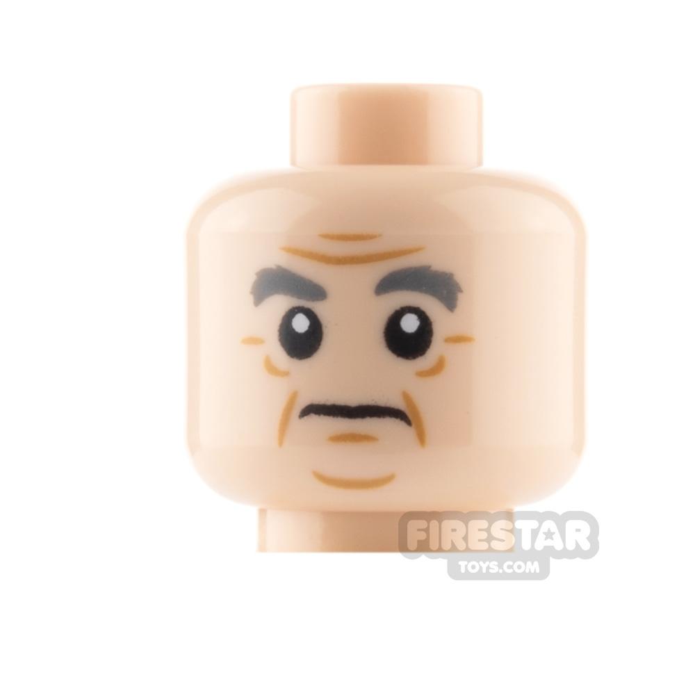 Custom Mini Figure Heads - Tired Office Worker - Reddish Brown