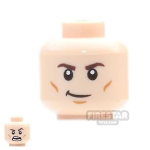 LEGO Mini Figure Heads - Crooked Smile / Open Mouth Grimace