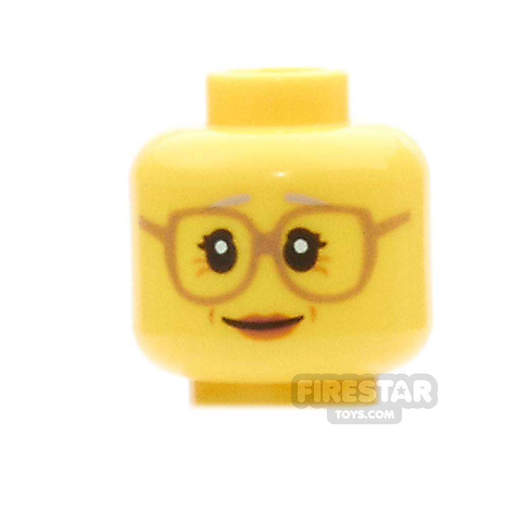 LEGO Mini Figure Heads - Grandmother