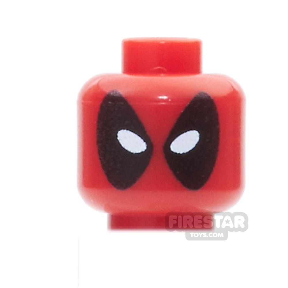 Custom Mini Figure Heads - Deadpool - Oval Eyes