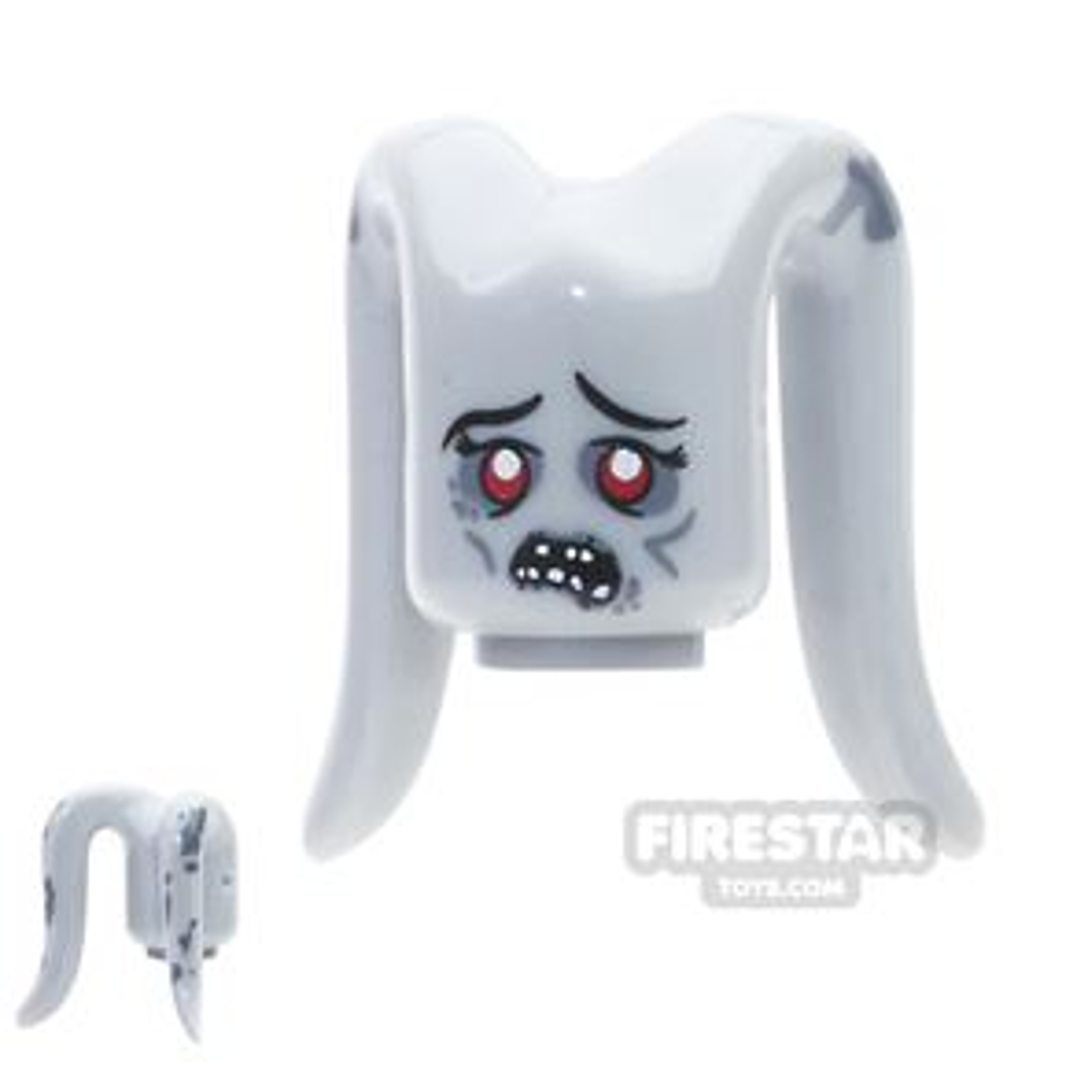 Arealight Mini Figure Heads - Zombie - Gray