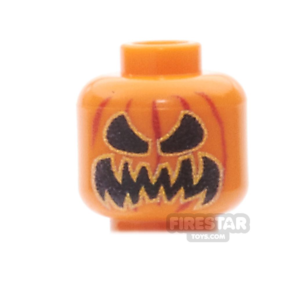 Custom Minifigure Heads - Pumpkin Head - Scary