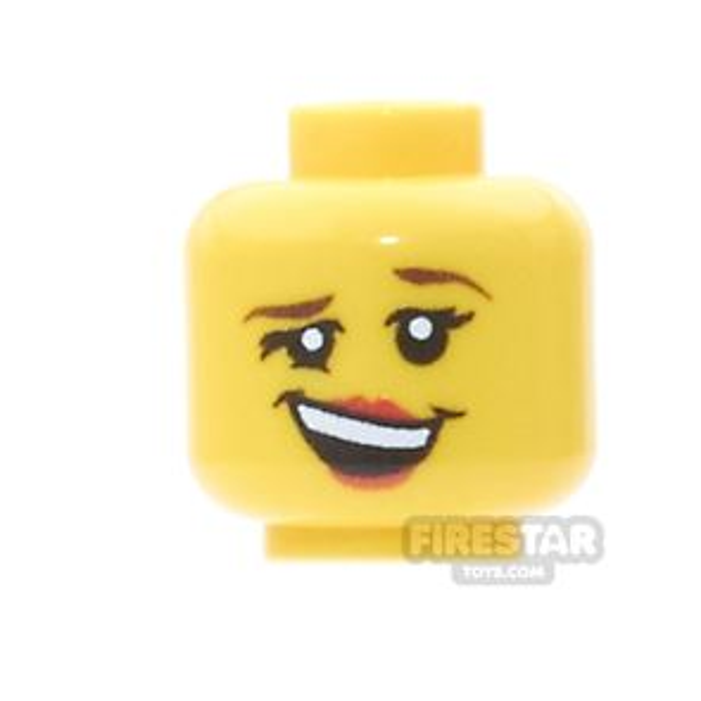 Custom Minifigure Heads - Merry Female - Yellow