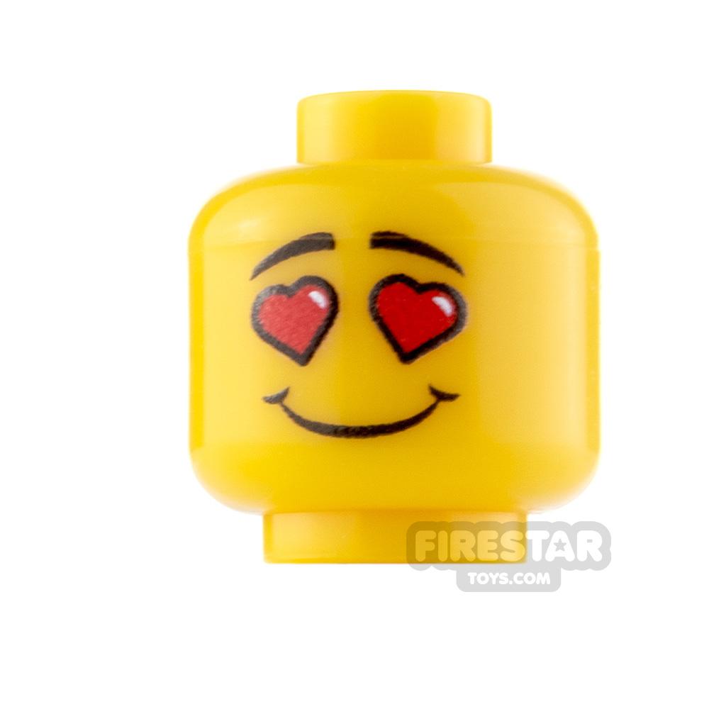 Custom Minifigure Heads In Love Male