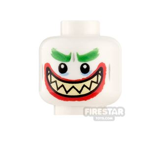 LEGO Minifigure Heads The Joker Grin and Clenched Teeth