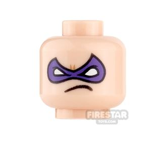 LEGO Mini Figure Heads - Riddler - Crooked Mouth Grin and Frown