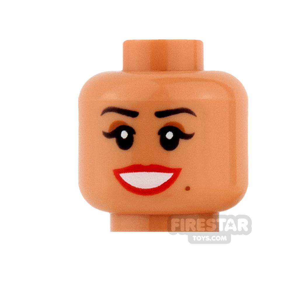 LEGO Minifigure Heads Beauty Mark Smile and Scared